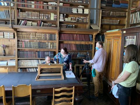 Франко-немецкий телеканалArte снял в КФУ сюжет для своего фильма о Казани