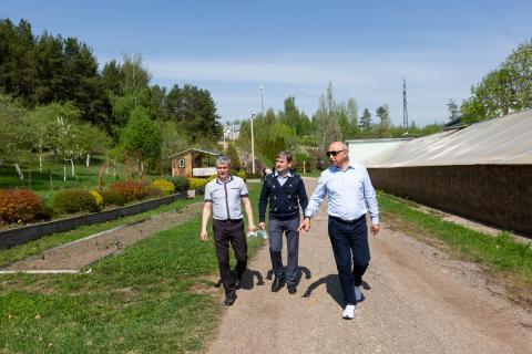 Ильшат Гафуров с рабочим визитом посетил УПЦ КФУ «Ботанический сад»